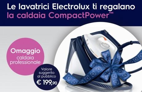 Le lavatrici Electrolux ti regalano il ferro a caldaia CompactPower