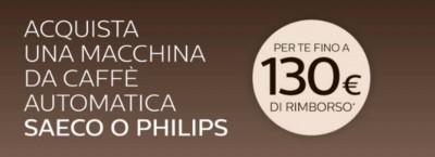 Promozione Philips Saeco: Rimborso fino a €130